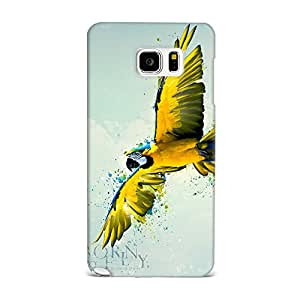 Samsung Note 5 Case, Samsung Note 5 Hard Protective SLIM Cover [Shock Resistant Hard Back Cover Case] for Samsung Note 5 -Born To Fly Parrot