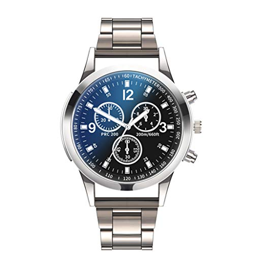 LuckhomeHerren Uhr Männer Edelstahl Mesh Armbanduhr Mann Classic Luxus Business Analog Uhren Luxusuhren Quarzuhr Edelstahl Zifferblatt Casual Bracele Uhr(B)