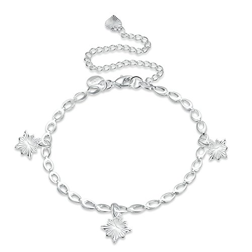 Adisaer Versilbert Fußkettchen Damen Knöchelkette Unregelmäßig Fußkette Silber Einstellbar Rolokette Lange 20+10CM Strand (Kostüme Wolf Füße)