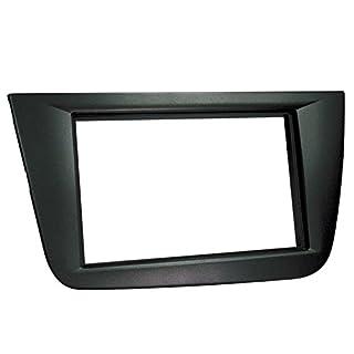 ACV 281328-44 2-DIN Radio Faceplate for Seat Altea/Altea XL/Toledo Black