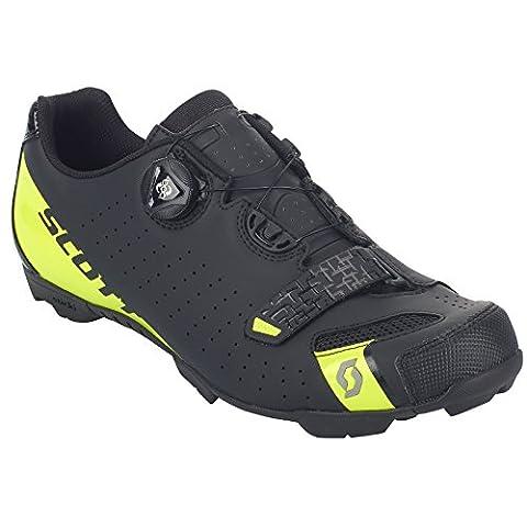 Scott MTB Comp Boa Fahrrad Schuhe schwarz/gelb 2018: Größe: 48