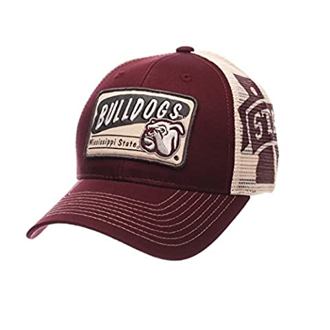 NCAA Mississippi State Bulldogs Men's Interstate Trucker Cap, Adjustable, Maroon