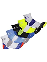 More Mile Mens Limited Edition 5 Pair Pack London Cushioned Running Socks