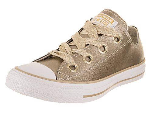 Converse Damen Chuck Taylor CTAS Big Eyelets Ox Sneakers Mehrfarbig (Metallic Gold/White 752), 39 EU