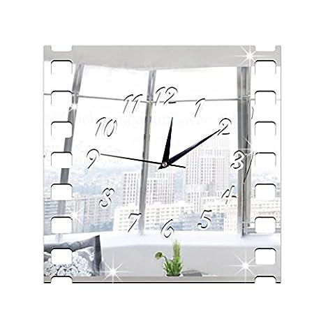 Rétro rétro rétro rétro horloge murale décoratif 28 * 28cm , gold