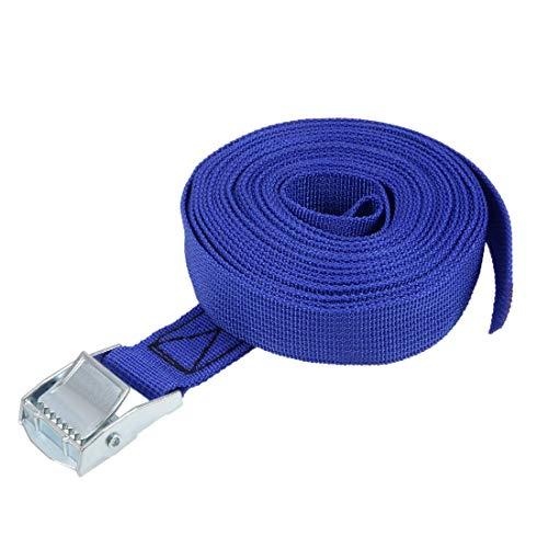 ZCHXD 5Mx25mm Lashing Strap Luggage Tie Down Straps w Cam Lock Buckle 250Kg Work Load, Blue - Lock Luggage Strap