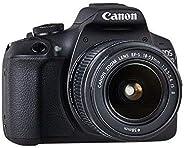 كاميرا دي اس ال ار كانون اي او اس 2000D بفتحة عدسة 18-55، دقة 24.1 ميجابكسل، لون أسود