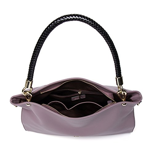 CLUCI Vera Pelle Borsa Donna Sacchetta Tote a Mano Spalla Top-Handle Leather Bag Designer 8-Taro rosa