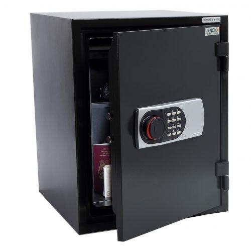 KNOXSAFE Fireknox 3 FK1603E Feuerschutztresor 60 min Feuerschutz für Papier USB-Stick DvD CD Schwarz 515 x 400x 440 mm (HxBxT) -