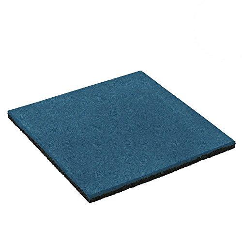 fallschutzmatten spielplatz WICKEY Gummimatte Fallschutzmatte Sicherheitsmatte, 50x50x2,5cm, blau, Gummi