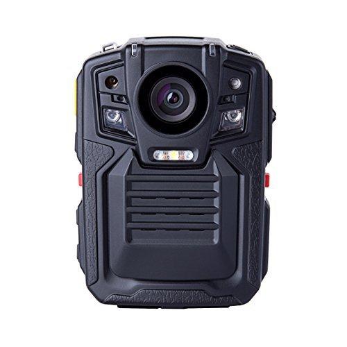 Shinmax Angin-Tech Cam102 Infrarot-Nachtsicht HD 1080P Polizei Körper getragen Videokamera Sicherheit IR-Cam Eingebauter GPS-Unterstützung Bewegungserkennung + 16GB TF-Karte (mit Karte 16GB TF) (Polizei-kamera)
