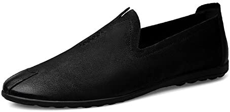 Zapatos De Guisantes para Hombre Zapatos De Cuero Zapatos De Conducción Moda Salvaje