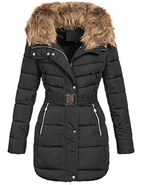 Zarlena–Giacca invernale cappotto invernale trapuntato cappotto trapuntato giacca pelliccia sintetica