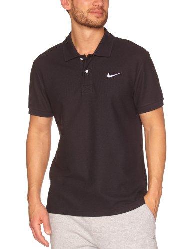 NIKE Herren Polo Classic Pique, black/white, L, 411482 (Nike Herren Polo-shirt)