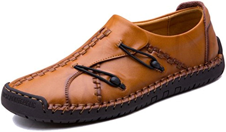 Zapatos Oxford De Hombre Resbalón del Cuero De La PU De La Armadura De Los Hombres En Los Zapatos De Los Mocasines... -