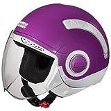 #8: Studds Nano Half Helmet (White and Purple, S)