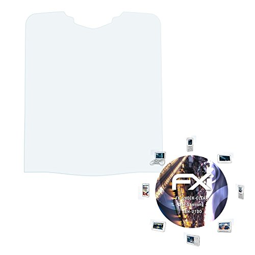 Samsung SGH-U100 Folie - 3 x atFoliX FX-Shock-Clear stoßabsorbierende ultraklare Panzerfolie Displayschutzfolie