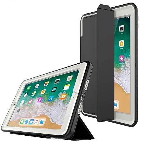 PROTECK Coque iPad Air 2, Etui avec【Film de Protection Intégré】+【Mise en Veille Automatique】+【Antichoc】- Beige
