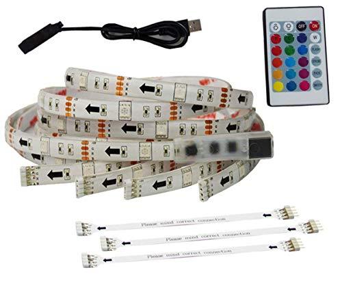 """USB-LED-Lichtleiste LED-TV-Hintergrundbeleuchtung TV-LED-Hintergrundbeleuchtung für 65-70""""Flat HDTV RGB-Mehrfarben-LED-Lichtleiste Fernbedienung Heimkino-Beleuchtungs-Kits 4 Streifen in einem Satz"""