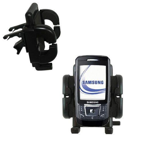 Mit Lüftungsklemme befestigter Cradle-Halter im Fahrzeug / Auto für das Samsung SGH-D870 mit Lebenslange Garantie