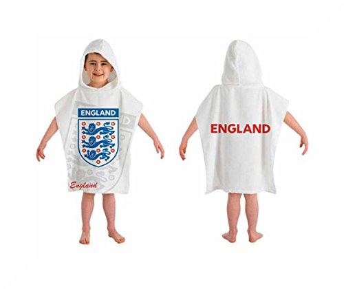 Official Ponchos Jungen Bademantel Mehrfarbig mehrfarbig Small Gr. Small, Three Lions White (Lion Jacke Kinder)