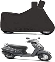 Bull Rider Two Wheeler Cover for Honda Activa 5G (Black)