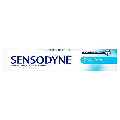 Sensodyne Tägliche Pflege Zahnpasta für empfindliche Zähne 75ml, 6Stück (Zahnpasta Empfindlich)