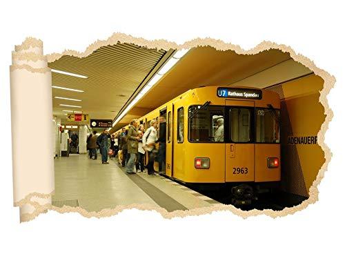 3D Wandtattoo Metro Station Zug Bahn Berlin Tapete Wand Aufkleber Wanddurchbruch Deko Wandbild Wandsticker 11N2097