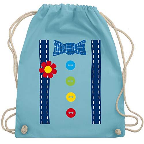 Karneval & Fasching - Clown Kostüm blau - Unisize - Hellblau - WM110 - Turnbeutel & Gym Bag