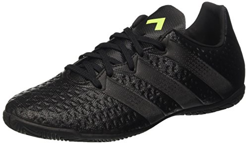 adidas Herren Ace 16.4 in Fußballschuhe, Noir/Noir/Jaune Fluo Schwarz (Core Black/Core Black/Solar Yellow)