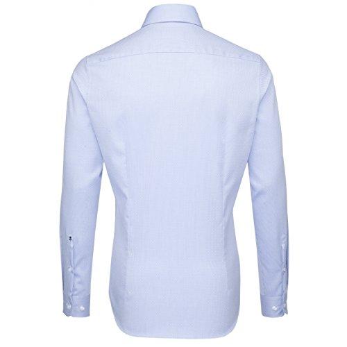 SEIDENSTICKER Herren Hemd Slim 1/1-Arm Bügelfrei Uni / Uniähnlich City-Hemd Kent-Kragen Kombimanschette weitenverstellbar hellblau (0013)