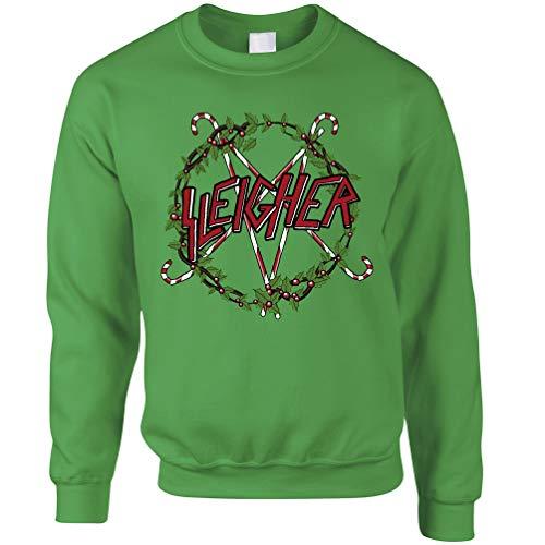 Weihnachten Unisex-Pullover Weihnachten Sleigher Alternative Rock-Witz Kelly Green X-Small Kelly Green Band
