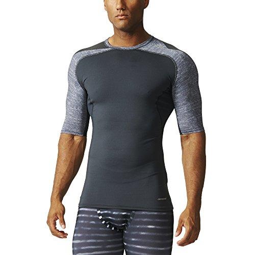 adidas Herren T-Shirt Techfit Cool Short Sleeve Funktionsunterwäsch grau/schwarz