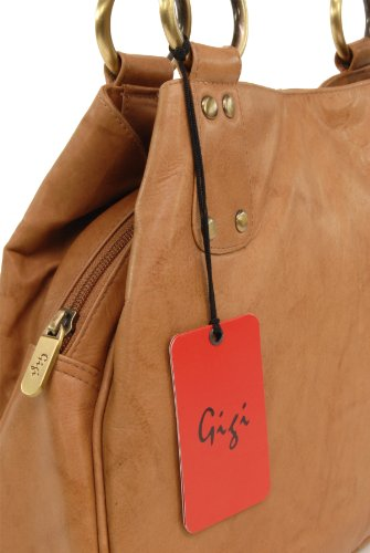 Borse a spalla di Gigi in pelle - Othello 6819 Antiquariato Miele (Marrone Scuro)