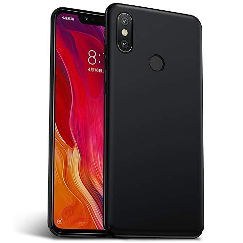 Rozeda Xiaomi Mi 8 Capa, Anti Scratch Anti Choque Ultra Slim PC Durável Caixa Protetora para Xiaomi Mi 8 (Preto) (6,21 Polegada)