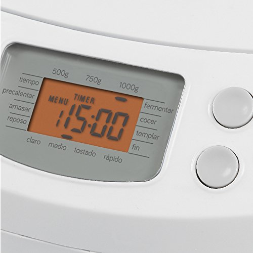 Ufesa PN5000 - Panificadora, 650 W, 11 programas automáticos