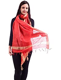 Inara Robes Red Cotton Silk Dupatta