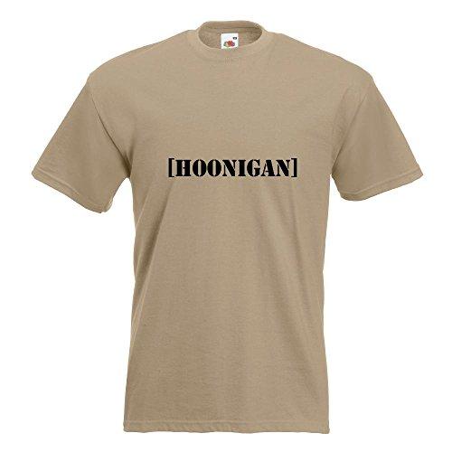 KIWISTAR - Hoonigan T-Shirt in 15 verschiedenen Farben - Herren Funshirt bedruckt Design Sprüche Spruch Motive Oberteil Baumwolle Print Größe S M L XL XXL Khaki
