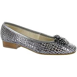 Riva La Plaque Ballerina women's Shoes Pewter Size 40