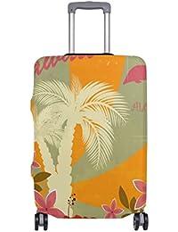 Preisvergleich für COOSUN Hawaiische Druck-Reise-Gepäck Schutzabdeckungen Waschbar Spandex Gepäck Koffer Cover - Passend für 18-32...