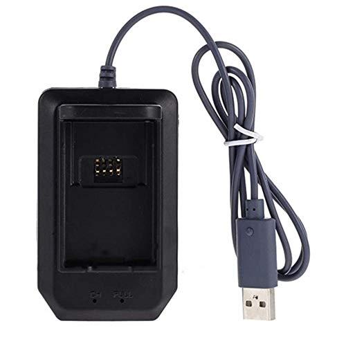 BeonJFx Cargador de batería para Xbox360 Interfaz USB LED Indicador de Carga rápida