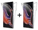 TBOC 2X Cover per Samsung Galaxy Note 9 [6.4'] - [Pack: Due unità] Custodia [Trasparente] Completa Copertura Integrale [Silicone TPU] Protezione Totale [360 Gradi] Full Body Anteriore Posteriore