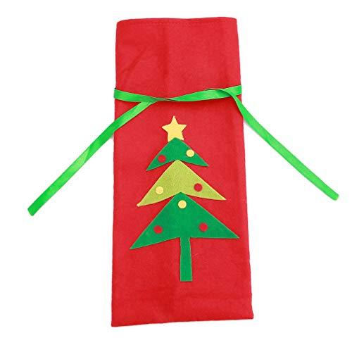 LJSLYJ Weihnachten Weinflasche Cover Geschenktüten Weihnachtsbaum Weihnachtsschmuck
