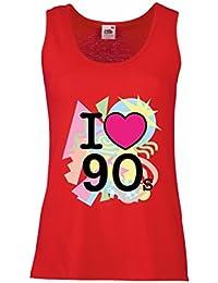 Camisetas sin Mangas para Mujer ¡Amo los años 90! - Ropa de Estilo Retro