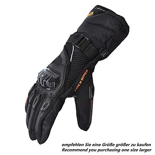 Motorradhandschuhe Winterhandschuhe Motorrad Handschuhe Winter Warm Handschuhe Touchscreen Handschuhe Wasserdicht Winddicht Sporthandschuhe (XL,Schwarz)