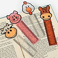 Pack of 12 - Farm Ruler Bookmarks - Great Party Loot Bag Fillers