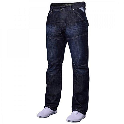 enzo-hombre-vaqueros-de-diseno-azul-claro-prelavado-ez243-algodon-lavado-oscuro-ez244-100-algodon-ho