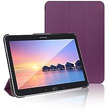 JETech Gold Slim Fit Galaxy Tab 4 10.1 Smart Funda de PC Cuero Carcasa con Stand Función y Imán Incorporado para el Sueño/Estela para Samsung Galaxy Tab 4 10 pulgadas (Galaxy Tab 4 10.1Pulgadas, Púrpura)