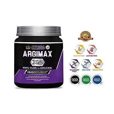 ARGIMAX X2 - 3 Grammes of 100% Pure L-Arginine 100% per Dose - Powerful Nitric Oxide Precursor, Induces Vasodilation and Nutrient Absorption. No additives - 150 Immediate-Release Capsules. by Laboratorio Fersa Ibérica