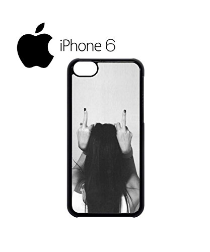 Finger Girl Rude Attitude Swag Mobile Phone Case Back Cover Hülle Weiß Schwarz for iPhone 6 White Schwarz